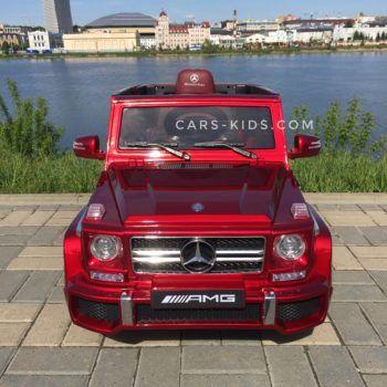 Электромобиль Mercedes-Benz G63 AMG (усиленный аккумулятор, кожа, резина, пульт, музыка, глянцевая покраска)