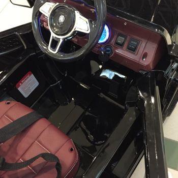 Электромобиль Мерседес Гелик М001МР черный (колеса резина, сиденье кожа, пульт, музыка)