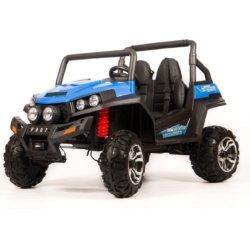 Электромобиль двухместный BUGGY S2588 синий (полный привод, резиновые колеса, кожаное кресло, пульт)