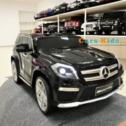 Электромобиль Mercedes Benz GL63 AMG (колеса резина, сиденье кожа, пульт, музыка)