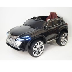 Электромобиль Lexus Е111КХ черный (колеса резина, кресло кожа, пульт, музыка)
