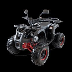 Подростковый квадроцикл бензиновый MOTAX ATV Grizlik Super LUX 125 cc черно-красный (электростартер, механика, длинноходная подвеска, до 65 км/ч)