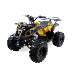 Подростковый квадроцикл бензиновый MOTAX ATV Grizlik Super LUX 125 cc желтый (электростартер, механика, длинноходная подвеска, до 65 км/ч)