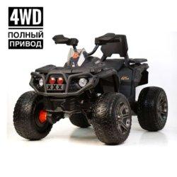 Электроквадроцикл Maverick ATV 4WD черный  (полный привод, колеса резина, кресло кожа, музыка)