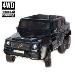 Электромобиль Mercedes Benz G63 4WD DMD318 черный (колеса резина, кресло кожа, пульт, музыка)