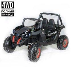 Электромобиль Buggy XMX603 черный глянец (2х местный, полный привод, колеса резина, кресло кожа, пульт, музыка)