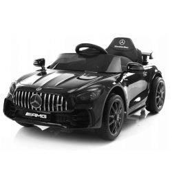Детский электромобиль Mercedes-Benz GTR AMG BBH-0006 черный глянец (колеса резина, кресло кожа, пульт, музыка)